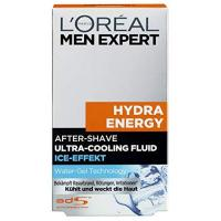 After Shaves L'Oréal Men Expert Hydra Energy After-Shave Ultra-Cooling Fluid, kühlt frisch rasierte Männerhaut Beugt Rötungen, Hautirritationen und Pickeln vor (100 ml)