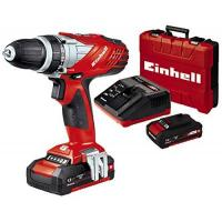 Einhell Bohrschrauber Einhell Akku Bohrschrauber TE-CD 18 Li Power X-Change (Lithium Ionen, 18 V, 2 Gang, 48 Nm, LED-Licht, Koffer, inkl. 1,5 Ah Akku Ladegerät )