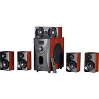 5.1-Soundsystem auvisio Soundsystem: Home-Theater Surround-Sound-System 5.1, 160 Watt, MP3/Radio, Holzoptik (5 1 Surround Lautsprecher Systeme)